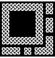 Celtic knot frame and design elements vector image