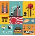 Symbols of Tokyo vector image