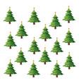 seamless pattern christmas tree pine balls and vector image