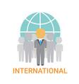 international businesspeople team cooperation vector image