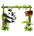 A mother panda together with her baby vector image vector image