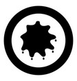 abstract ink blot black icon in circle isolated vector image vector image