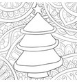 adult coloring bookpage a christmas fir tree on vector image