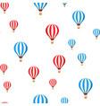 air balloons flying cartoon seamless vector image