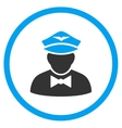 Airline Steward Rounded Icon vector image