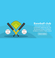 Baseball club banner horizontal concept