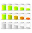battery level indicators battery life accumulator vector image vector image