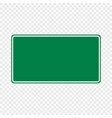 blank green traffic road sign vector image