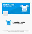 blue business logo template for record recording vector image