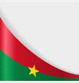 burkina faso flag background vector image vector image
