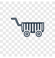 cart toy concept linear icon isolated on vector image