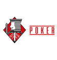 casino king diamond card poker game banner vector image vector image