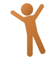 Child Joy Gradient Icon vector image
