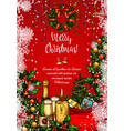 christmas holiday festive dinner sketch banner vector image vector image