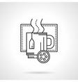Christmas tea flat line icon vector image vector image