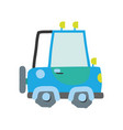 colorful tractor farm vehicle plant transport vector image