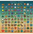 colorful travel line icons set vector image vector image