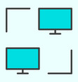 computer network line icon lan minimal pictogram vector image