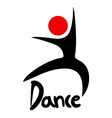 dance icon vector image vector image
