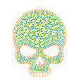 day of the dead skull skull sugar flower skull vector image vector image