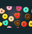 different sweet donuts vector image vector image