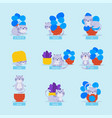 english prepositions cat for kids learning english vector image