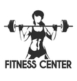 Fitness Center or Gym Emblem vector image vector image