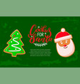 gingerbread cookies for santa christmas holiday vector image vector image