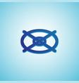 gradient target icon isometric blue gradient vector image