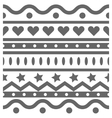 horizontal seamless pattern vector image vector image