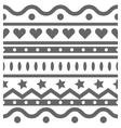 horizontal seamless pattern vector image vector image