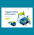isometric loading luggage at airport vector image