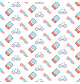 knee bandage cycling sport injury human leg icon vector image vector image