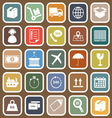 Logistics falt icons on brown background vector image vector image
