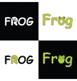 logo FROG for company vector image