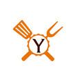 logo restaurant letter y vector image vector image