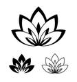 lotus flower as a symbol yoga vector image