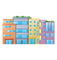 many buildings on white background vector image vector image
