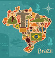 map from traditional symbols brazil vector image vector image