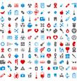 Medical icons set set of 144 medical and medicine vector image