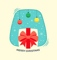 merry christmas concept decorative with winter vector image vector image