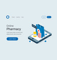 modern online pharmacy and drugstore concept vector image vector image