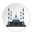 muslim mosque icon circle vector image