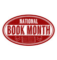 national book month grunge rubber stamp vector image vector image