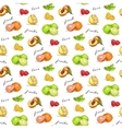 pattern fruit vector image vector image