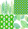 Patterns in shades of green vector image