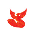 Phoenix Rising Etching vector image