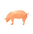polygonal pig vector image vector image
