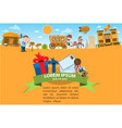 post office wild west game background 19th vector image vector image