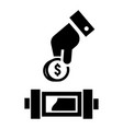 put economy money coin icon simple style vector image vector image